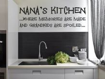 Nana's Kitchen - Wall Art Sticker  Vinyl Transfer, Modern Wall Decal
